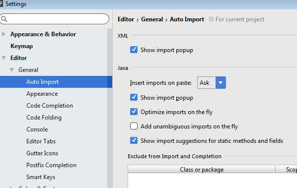 intellij-organize-imports